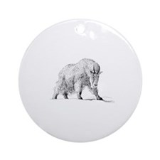 Mountain Goat (illustration) Ornament (Round)