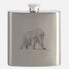 Mountain Goat (illustration) Flask
