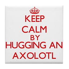 Keep calm by hugging an Axolotl Tile Coaster