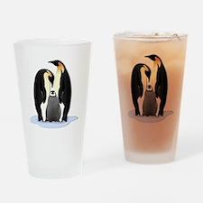 Penguin Family Drinking Glass