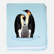 Penguin Family baby blanket