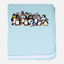 Penguins baby blanket