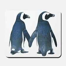 Penguins Holding Hands Mousepad