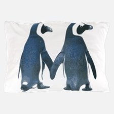 Penguins Holding Hands Pillow Case