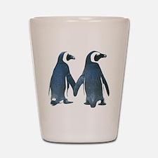 Penguins Holding Hands Shot Glass