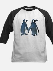 Penguins Holding Hands Baseball Jersey