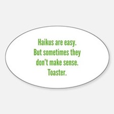 Haikus Are Easy Decal