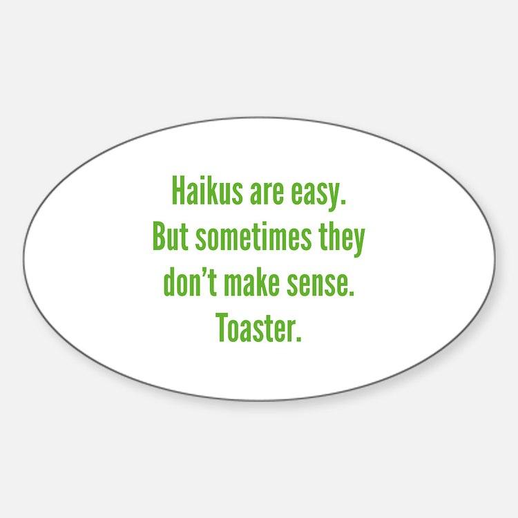 Haikus Are Easy Decal
