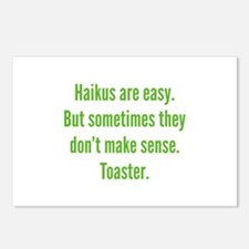 Haikus Are Easy Postcards (Package of 8)