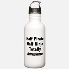 Half Pirate Half Ninja Totally Awesome Water Bottle