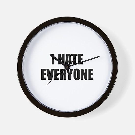 I Hate Everyone Wall Clock