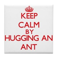 Keep calm by hugging an Ant Tile Coaster