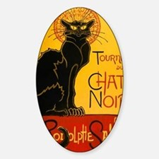Chat Noir Vintage Sticker (Oval)