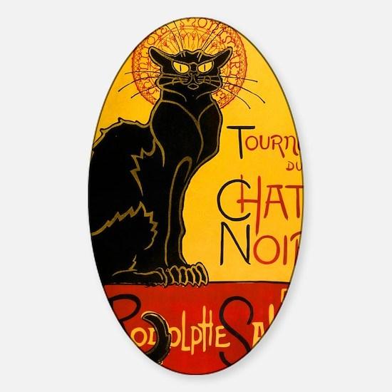 Chat Noir Vintage Sticker (Oval)