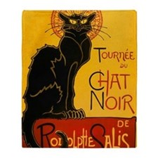 Chat Noir Vintage Throw Blanket