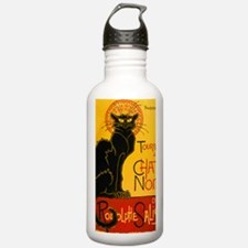 Chat Noir Vintage Water Bottle
