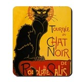 Chat noir Mouse Pads