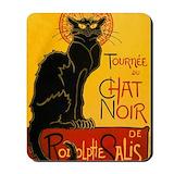 Chat noir Mouse Pads