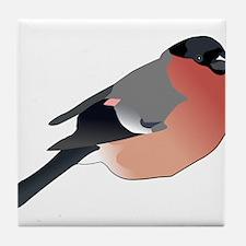 Eurasian Bullfinch Tile Coaster
