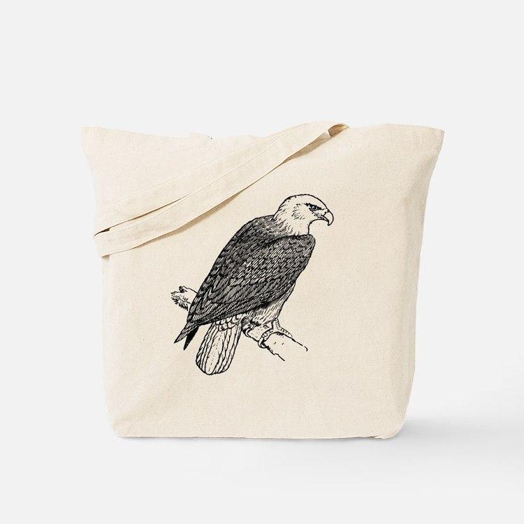 Bald Eagle Sketch Tote Bag