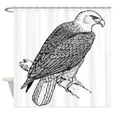Bald Eagle Sketch Shower Curtain