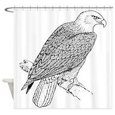 Bald Eagle Sketch Shower Curtain