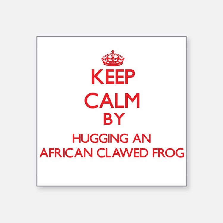 Keep calm by hugging an African Clawed Frog Sticke