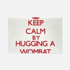 Keep calm by hugging a Wombat Magnets