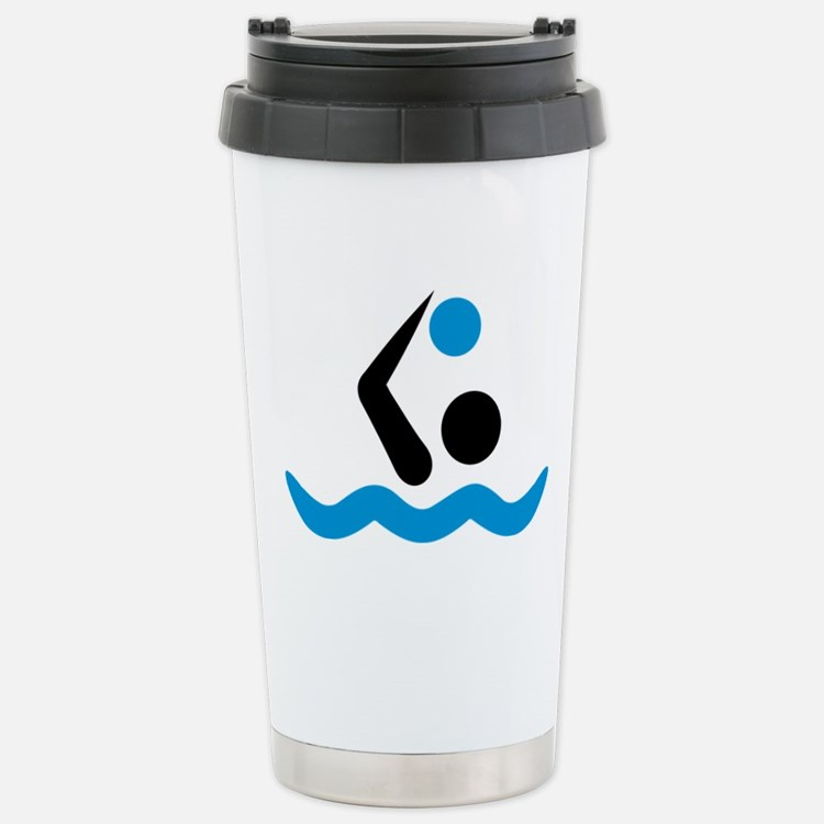 Water polo logo Stainless Steel Travel Mug