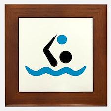 Water polo logo Framed Tile