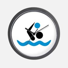 Water polo logo Wall Clock