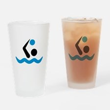 Water polo logo Drinking Glass