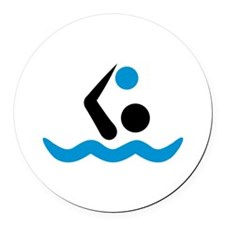 Water polo logo Round Car Magnet