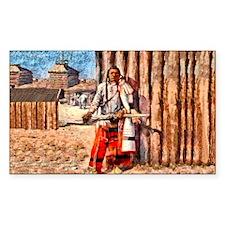 White Robe Native American Decal