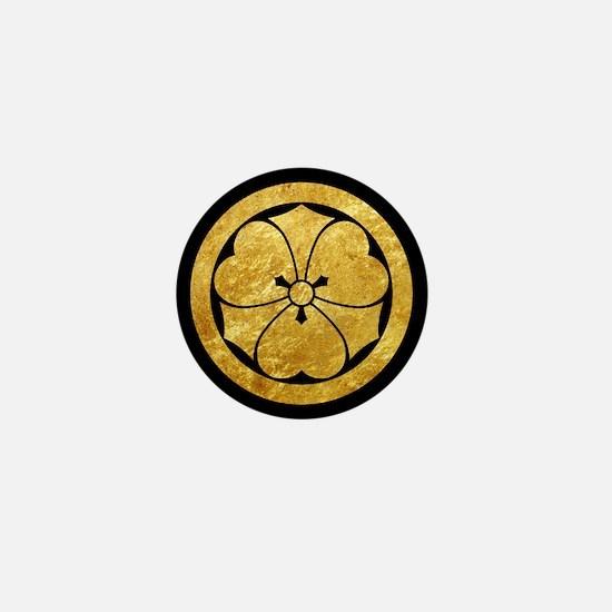 Sakai Mon gold button Mini Button