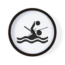 Water polo icon Wall Clock