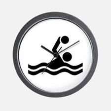 Water polo icon Wall Clock