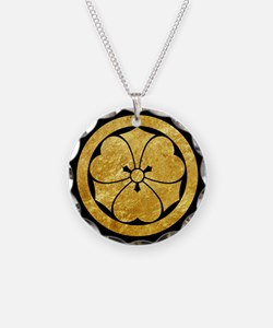 Sakai Mon gold button Necklace