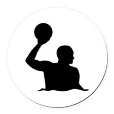 Water polo player Round Car Magnet