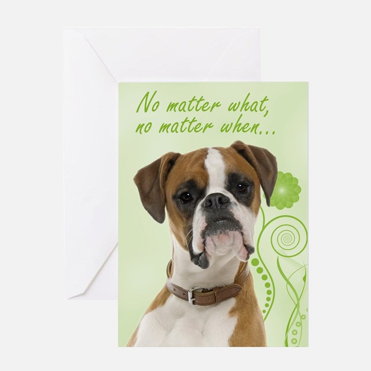 Boxer Love And Support Cards