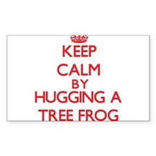 Keep calm by hugging a Tree Frog Decal