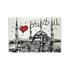 I love Istanbul Rectangle Magnet