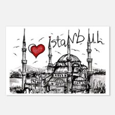 I love Istanbul Postcards (Package of 8)