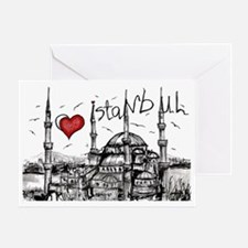 I love Istanbul Greeting Card