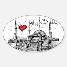 I love Istanbul Sticker (Oval)