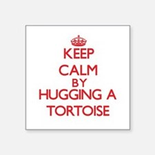 Keep calm by hugging a Tortoise Sticker