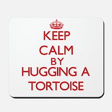 Keep calm by hugging a Tortoise Mousepad
