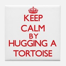 Keep calm by hugging a Tortoise Tile Coaster