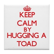 Keep calm by hugging a Toad Tile Coaster