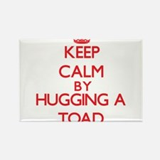 Keep calm by hugging a Toad Magnets